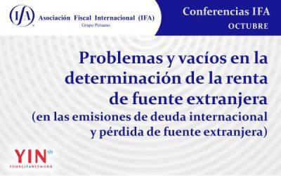 Conferencia: Problemas y vacíos en la determinación de la renta de fuente extranjera