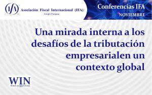 Conferencia: Una mirada interna a los desafíos de la tributación empresarial en un contexto global