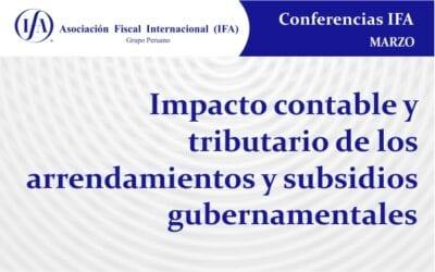 Impacto contable y tributario de los arrendamientos y subsidios gubernamentales