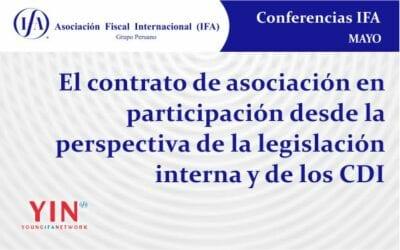 El contrato de asociación en participación desde la perspectiva de la legislación interna y de los CDI